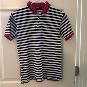 Ralph Lauren Polo blue and white, red size 12-14